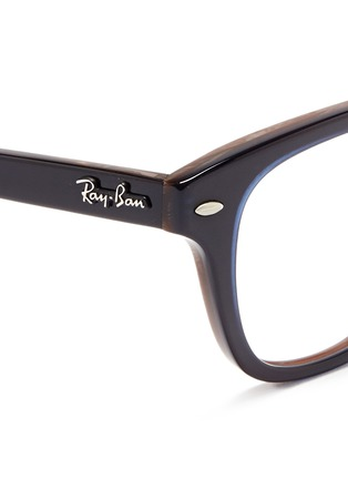 Detail View - Click To Enlarge - Ray-Ban - Layered acetate optical glasses