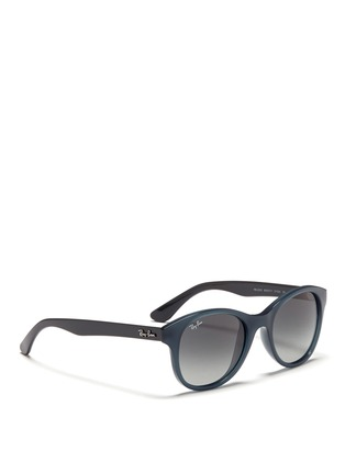 Figure View - Click To Enlarge - Ray-Ban - Round frame acetate sunglasses