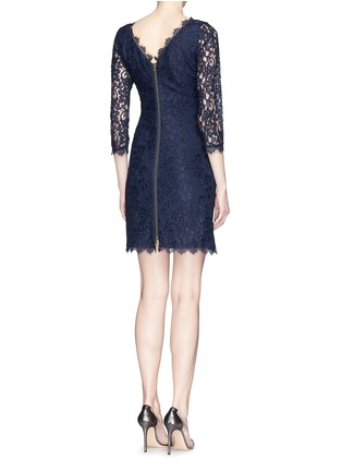 Back View - Click To Enlarge - DIANE VON FURSTENBERG - 'Zarita' floral lace sheath dress