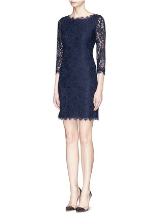 Figure View - Click To Enlarge - DIANE VON FURSTENBERG - 'Zarita' floral lace sheath dress