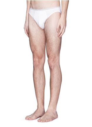 Front View - Click To Enlarge - Zimmerli - '172 Pure Comfort' jersey briefs
