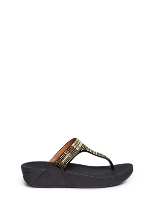 Fitflop - 'Aztec Chada' mosaic stud suede flip flops