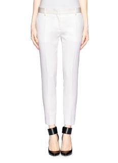 VICTORIA BECKHAMSatin waistband crop pants