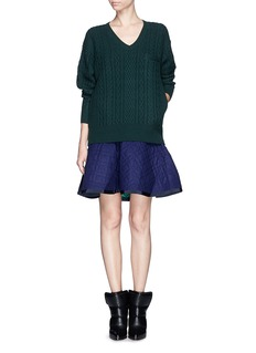SACAI LUCK Sweater and quilted skirt combo dress