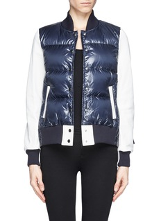 SACAI LUCK Contrast sleeve down jacket