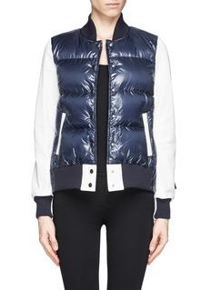 SACAI LUCKContrast sleeve down jacket