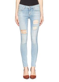RAG & BONE/JEANSkinny convoy stitch detail ripped jeans