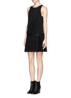 RAG & BONE Vanessa woven belt pleat chiffon dress