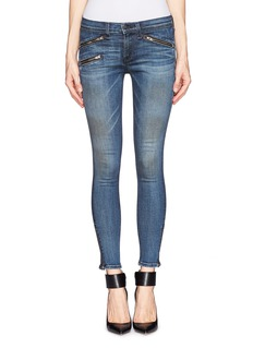 RAG & BONE/JEAN Zipped pocket skinny jeans
