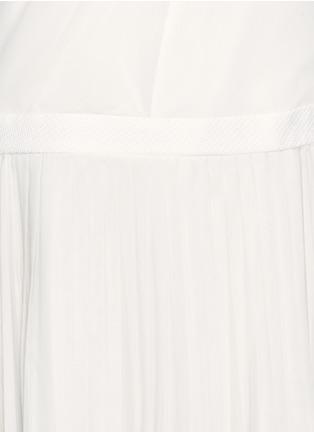 Detail View - Click To Enlarge - rag & bone - Vanessa woven belt pleat chiffon dress