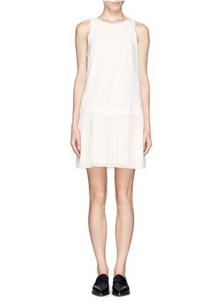 Main View - Click To Enlarge - rag & bone - Vanessa woven belt pleat chiffon dress