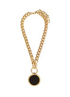 TOGA ARCHIVESRound leather locket chain necklace