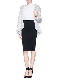 LANVINPinned asymmetric ruche pencil skirt