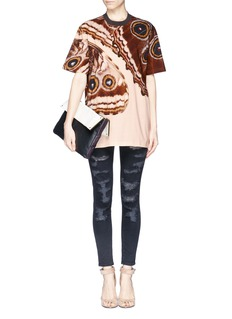 GIVENCHYButterfly wing print cotton jersey T-shirt