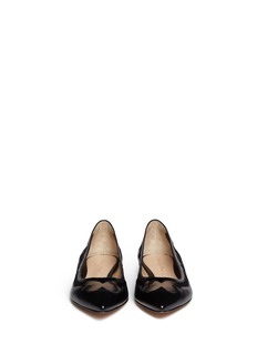 GIANVITO ROSSI Mesh insert leather flats