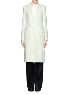 GIVENCHY Neoprene band cavalry twill coat