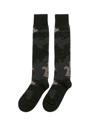 Valentino-Camouflage cotton blend socks