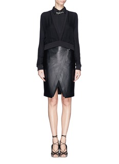 GIVENCHYSemi-sheer silk cropped top