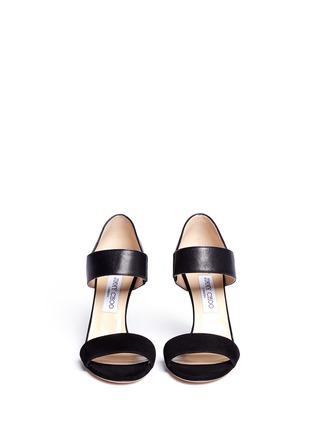 Figure View - Click To Enlarge - Jimmy Choo - 'Tallow' glitter strap suede sandals