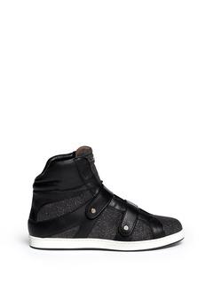 JIMMY CHOO'Yazz' metallic pixelated leather sneakers