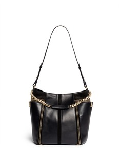 JIMMY CHOO 'Anna' stud suede leather hobo bag