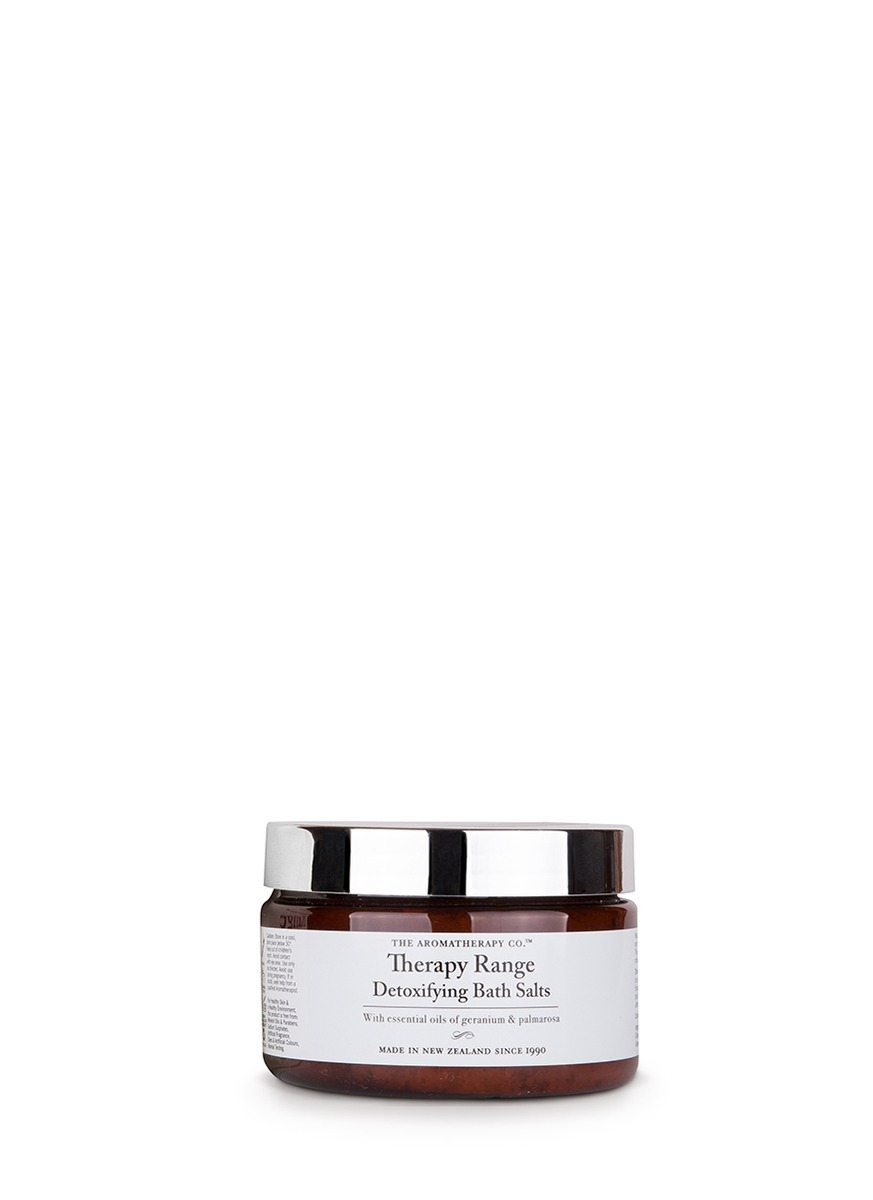 Geranium and palmarosa detoxifying bath salts by The Aromatherapy Company