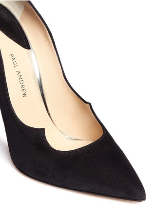 Detail View - Click To Enlarge - Paul Andrew - 'Chrysler Zenadia' suede pumps