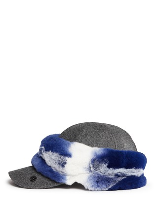 Maison Michel - Tie dye rabbit fur baseball cap