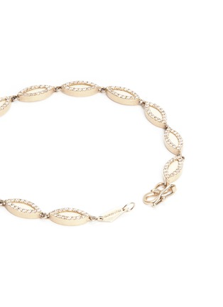 Monique Péan - Diamond 18k recycled white gold fossiled woolly mammoth bracelet