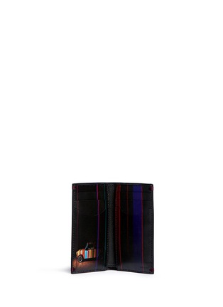 Figure View - Click To Enlarge - Paul Smith - 'Mini Graphic Edge' print interior bi-fold card holder