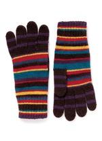 Multi stripe knit gloves