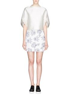 HELEN LEE'Lotus' pleat neck silk blouse
