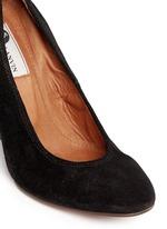 Suede wedge heel pumps