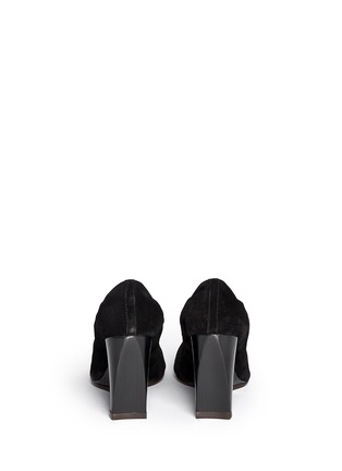 Back View - Click To Enlarge - Lanvin - Suede wedge heel pumps