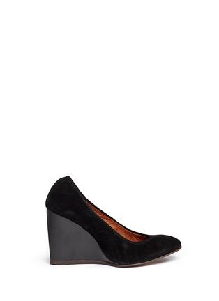 Main View - Click To Enlarge - Lanvin - Suede wedge heel pumps