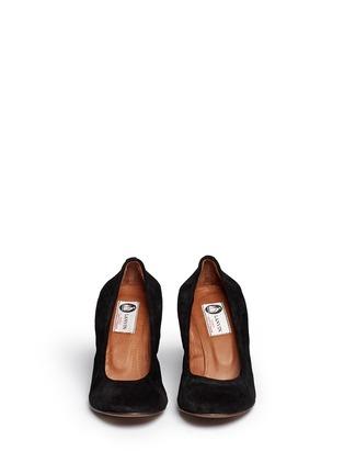 Lanvin-Suede wedge heel pumps