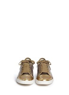 LANVINLizard embossed leather sneakers