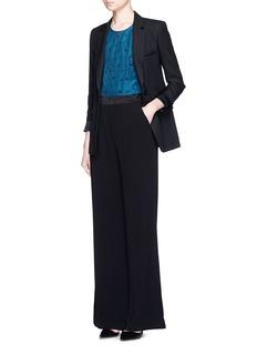 ALICE + OLIVIASatin waistband double pleat crepe pants