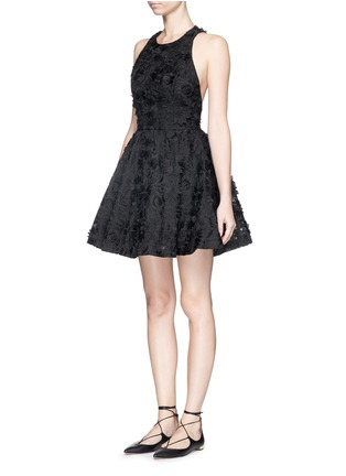 Front View - Click To Enlarge - alice + olivia - 'Tevin' floral brocade racerback dress