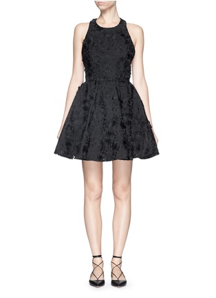 Main View - Click To Enlarge - alice + olivia - 'Tevin' floral brocade racerback dress