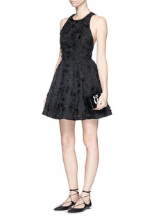 ALICE + OLIVIA 'Tevin' floral brocade racerback dress