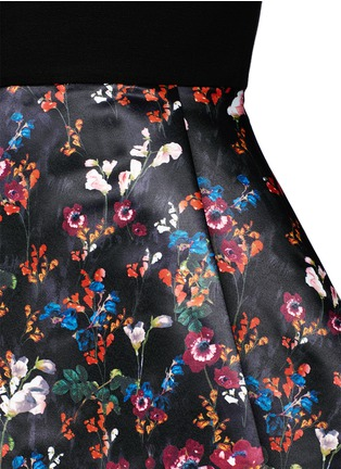 Detail View - Click To Enlarge - alice + olivia - 'Amie' fall garden print combo flare dress