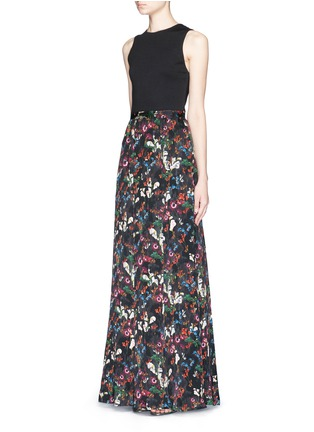 Figure View - Click To Enlarge - alice + olivia - 'Drewcella' fall garden print maxi dress