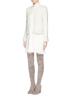 ALICE + OLIVIA'Nila' embellished tweed knit jacket