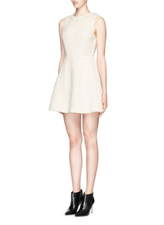 ALICE + OLIVIA 'Haven' embellished neckline bouclé dress
