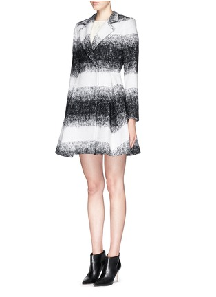 Front View - Click To Enlarge - alice + olivia - 'Therese' wool-mohair blend midi A-line coat