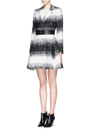 Figure View - Click To Enlarge - alice + olivia - 'Therese' wool-mohair blend midi A-line coat