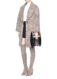 ALICE + OLIVIA'Ralter' mohair-wool bouclé oversize coat