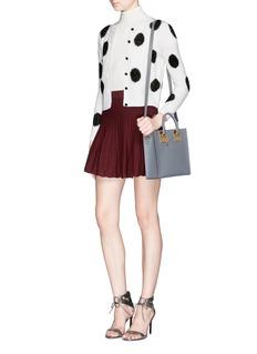 ALICE + OLIVIA'Rena' Ottoman knit flare skirt