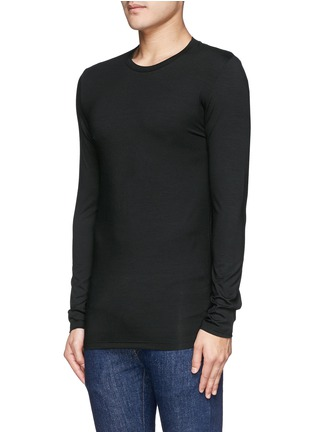 Front View - Click To Enlarge - Zimmerli - '700 Pureness' jersey undershirt